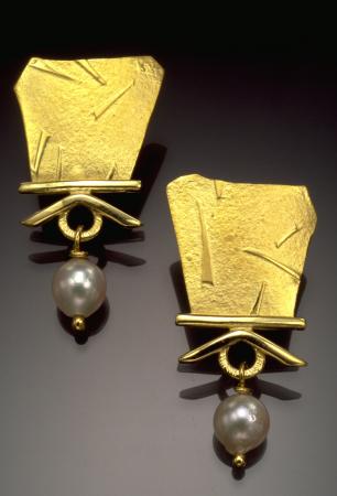 Amulet Series #39 Pearl Earrings